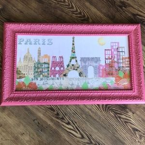 """NEW """"PARIS"""" Framed Wall Hanging Picture"""
